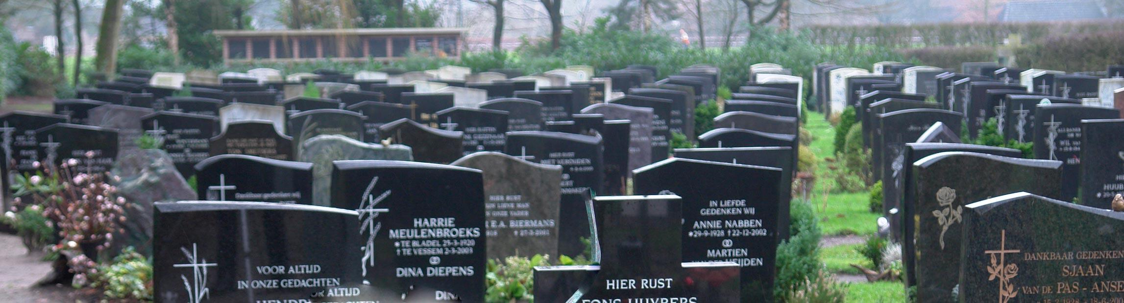 letters voor grafsteen